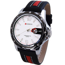 Curren military army men  Casual Leather Sport Watches - $18.69