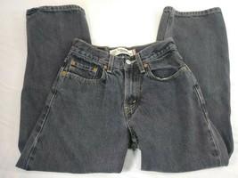 Boys Youth Levi's 569 Loose Straight Jeans Size 12 Black Denim (#7) image 1