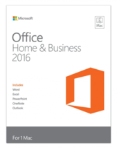 Microsoft Office HOME AND BUSINESS 2016 for Mac 1 user download license... - $69.99