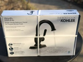 KOHLER Worth Single Hole Single-Handle Bathroom Faucet in Oil Rubbed Bronze NEW - $110.00