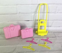 VTG Mattel Barbie 1989 Dress N Play Travel Time Set Pink Luggage Carrier... - $15.83