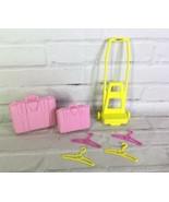 VTG Mattel Barbie 1989 Dress N Play Travel Time Set Pink Luggage Carrier... - $15.83