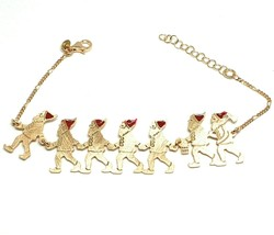 Silver Bracelet 925, Seven Dwarfs in Row, Jewelry le Favole - $134.81