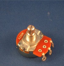 New Alpha A250k full size volume potentiometer with 1 nut and 1 washer. - $5.12