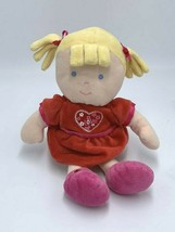 Just One Year Blonde Red Love Heart Dress Plush Baby Doll Stuffed Toy - $14.99