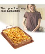 1PC Ceramic Copper Crisper / Oil Filter Food Frying Basket and Tray (30*... - $44.95
