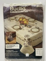 "Bucilla Maderia Lace Dinner Napkins Kit Set of 4 Brown 16x16"" Kit # 4858... - $8.99"