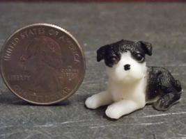 1 Pcs Dollhouse Miniature Plastic Animal Dog Puppy Pet 1:12 one inch sca... - $18.00
