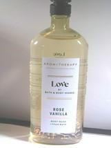 Bath & Body Works Aromatherapy Love Rose Vanilla Body Wash &Foam Bath 10oz - $12.83
