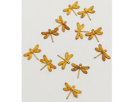 Gold Dragonfly Charms, Set of 12