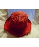 Women Lady light weight woven straw look sun  Hat  - $10.50
