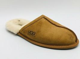 UGG Australia Men's Scuff Slipper Chestnut Suede Size 10D - $19.75