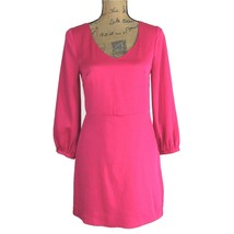 8 Med M Dress Dark Pink Shift Long Sl Keyhole H&M CONSCIOUS COLLECTION P... - €12,99 EUR