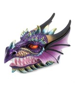 Ferocious MYTHICAL DRAGON HEAD Figurine Treasure Trinket Box - $19.25