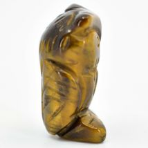 Tiger's Eye Gemstone Tiny Miniature Owl Figurine Hand Carved in China image 4