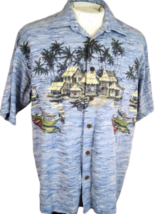 BOCA CLASSICS Men Hawaiian ALOHA shirt pit to pit 24 cotton rayon tropic... - $14.83