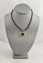 VINTAGE Jewelry SMOKY QUARTZ GEMSTONE PENDANT STERLING SILVER NECKLACE P... - $10.00