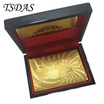 Pure 24K Gold Foil Playing Cards The Statue of Liberty Golden Poker Cards - $14.50