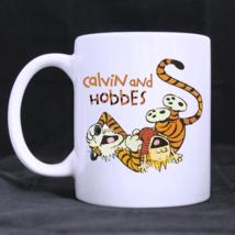 Calvin And Hobbes Happy Fall Yall Custom Personalized Coffee Tea White Mug - $13.99