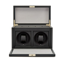 Smythson Panama Grosvenor Rotary Watch Box Luxury Black Size OS - $2,765.08