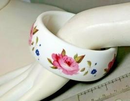 Lovely Vintage Bangle Royal Worcester Fine Bone China Porcelain Pink Ros... - $28.45