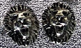 NICE Detailed Lion cat Sterling Silver Stud Earrings Jewelry - $19.75