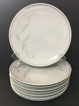 """Noritake China Windrift 6117 Set of 8 Salad Plates 8-1/4"""" Gold Band PD19 - $39.99"""