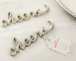 Silver Cheers Bottle Opener Anniversary Bridal Shower Wedding Birthday F... - $85.45+