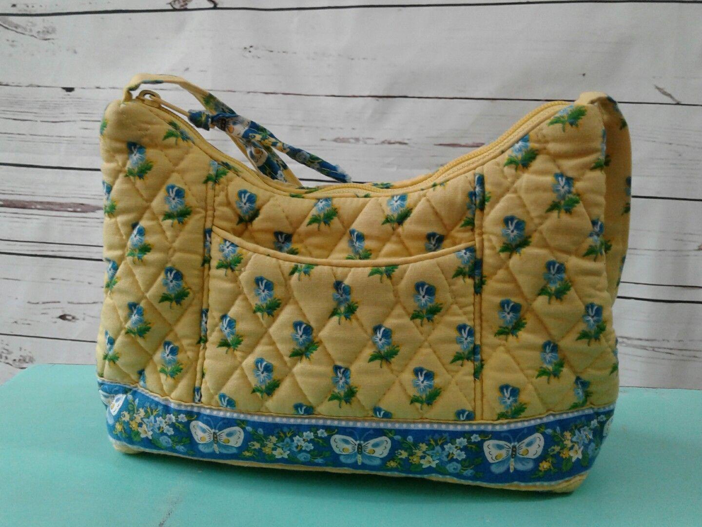 bd9bc6c73f S l1600. S l1600. Previous. Vera Bradley Katherine Small Handbag Purse  Shoulder Hobo Yellow Retired Floral
