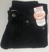 Wonder Nation Boy's Jeans Skinny Adj Waist Black Kid's Sz 6 image 6