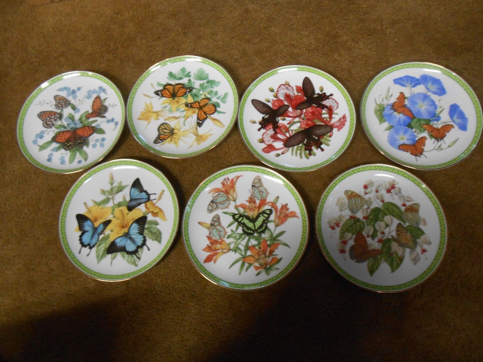 Beautiful Set 5 Collector Plates BUTTERFLIES OF THE WORLD by John Wilkinson