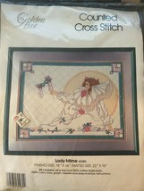 """Golden Bee Counted Cross Stitch Kit LADY MIME 18"""" x 14"""" #60280 - $6.93"""