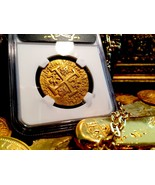 PERU 1714/3 8 ESCUDOS NGC 62 ONLY 1 KNOWN 1715 FLEET GOLD COIN DOUBLOON ... - $39,500.00