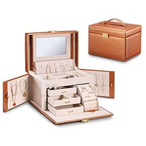 Vlando City Beauty Medium Jewelry Box, Faux Leather Jewelry Organizer Gi... - €43,56 EUR