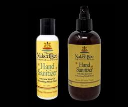 The Naked Bee Hand Sanitizer Orange Blossom Honey 8 oz Pump & 4oz Made U... - $22.76