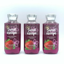 Bath and Body Works Sweet Escape Strawberry Picnic Shower Gel 3-Pack - $29.32