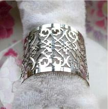 150pcs Laser Cut Napkin Ring Metallic Paper Silver Napkin for Wedding De... - $51.00