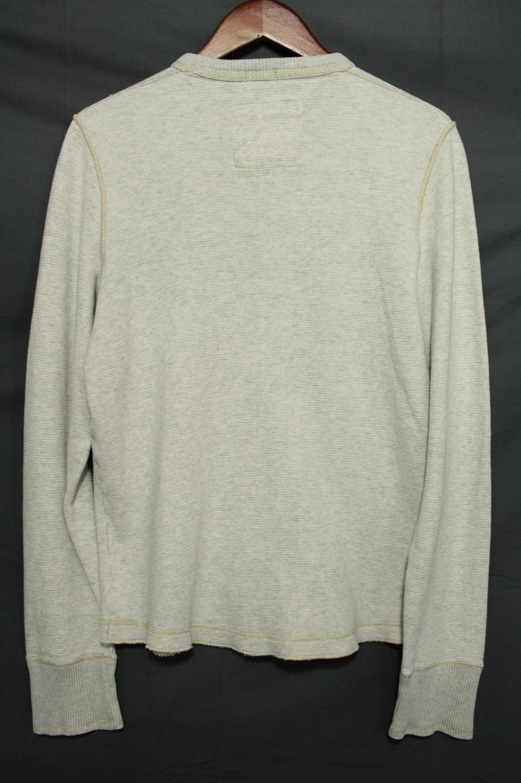 Men's Abercrombie & Fitch Thermal Shirt Long Sleeve Muscle Fit Gray Large