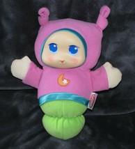 Playskool GloWorm Lullaby Plush Toy Musical Light up Hasbro  pink girl Moon Star - $29.69