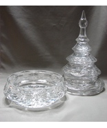 Park Avenue Crystal Candy Dish, Tall Crystal Christmas Holiday Tree Cent... - $24.99
