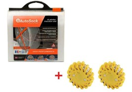 AutoSock AS685 Snow Sock Set W/ 2 Rechargeable Emergency Safety Flare - $123.70