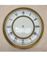 """Vintage Round Clock Brass Dial Roman Numerals Part 7 15/16"""" wide  - $16.82"""