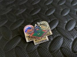 Vintage Mlb Pin Baseball Ny Mets Vs Florida Marlins Inaugural Series May 1993 - $19.79