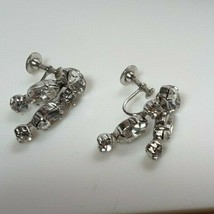 Vintage Weiss Clear Rhinestone Screw-back Earrings  - $34.65