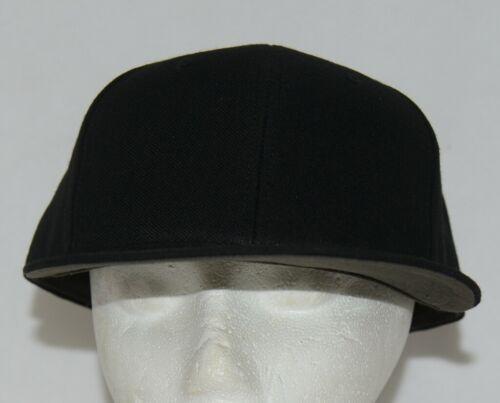 Richardson 7 1/4 Inch Fitted Black PTS 65 Uform Visor Baseball Cap