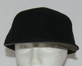 Richardson 7 1/4 Inch Fitted Black PTS 65 Uform Visor Baseball Cap image 1