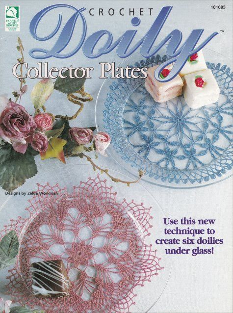 Primary image for Doily Collector Plates ~ Crochet OOP NEW Pattern Book RARE Under Glass Plates