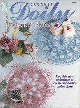 Doily Collector Plates ~ Crochet OOP NEW Pattern Book RARE Under Glass P... - $4.90