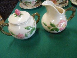 "Great Collectible Vintage FRANCISCAN ""Desert Rose"" ..SUGAR & CREAMER - $11.49"
