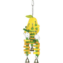 A&e Cage Multi Happy Beaks Wooden Pear Bird Toy Large 644472012781 - £23.01 GBP